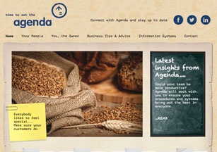 Blog design by Stripey Media for Agenda