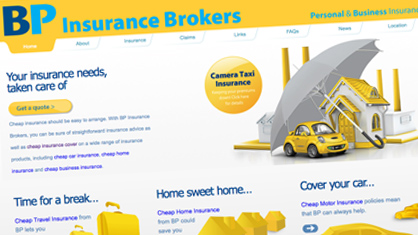 High end website design Lancashire - BP Insurance Brokers