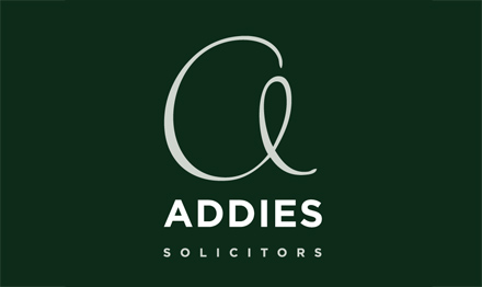 Logo design services by Stripey Media for Addies Solicitors