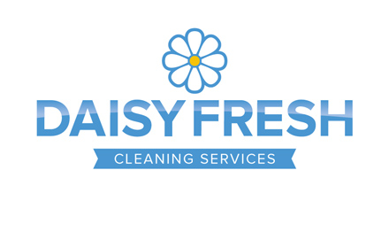 Professional logo design by Stripey Media for Daisy Fresh Cleaning Services