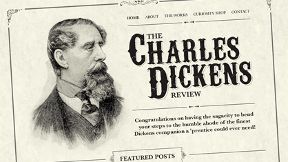 High end website design - Charles Dickens Review