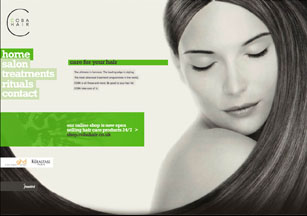 Ecommerce web design from Stripey Media for Coba Hair