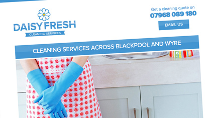 Website design and branding - Daisy Fresh Cleaning Services
