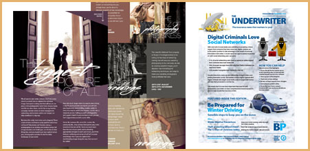 High end electronic brochure design from Stripey Media for Aspire and BP Insurance Brokers