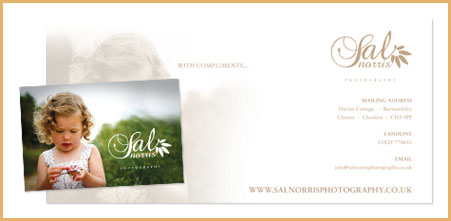 Bespoke stationery design from Stripey Media for Sal Norris Photography