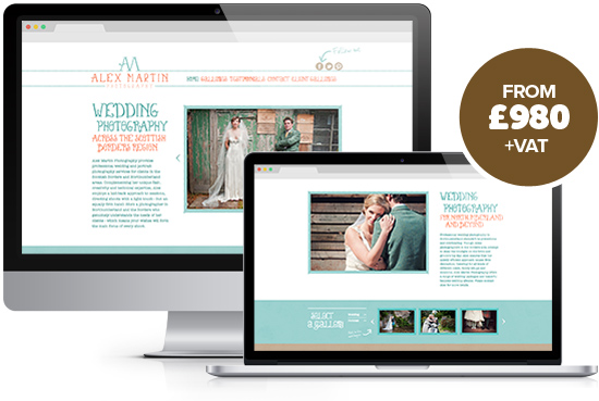 Website design package Starter from Stripey Media - example, Alex Martin Photography