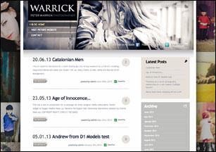 Wordpress blog design by Stripey Media for Peter Warrick Photography