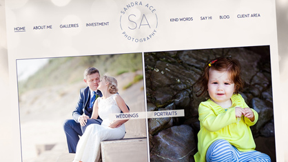 Website design and blog design - Sandra Ace Photography