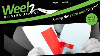 Lancashire website design for business - Weelz Driving School